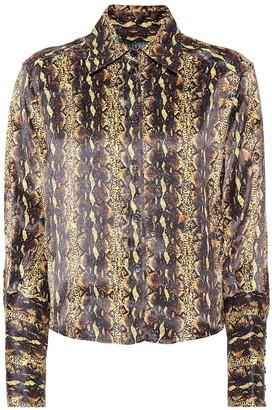 ALEXACHUNG Snake satin blouse
