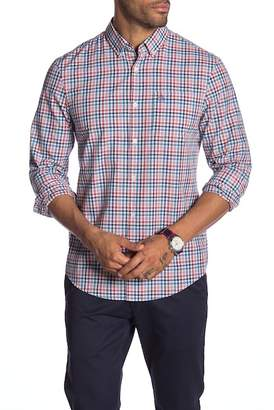 Original Penguin Mini Plaid Long Sleeve Heritage Slim Fit Shirt