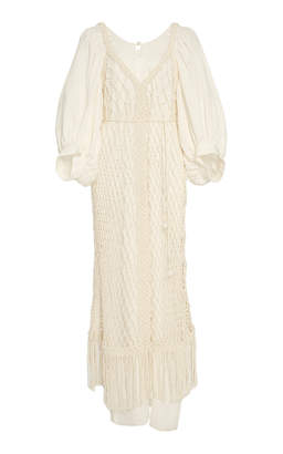Apiece Apart Eudora Macramé Dress