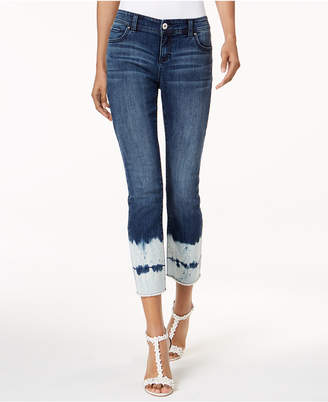 INC International Concepts I.N.C. Curvy-Fit Cropped Tie-Dyed Jeans, Created for Macy's