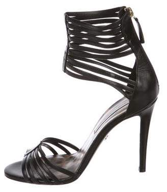 Diane von Furstenberg Leather Ankle-Strap Sandals