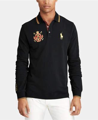 Polo Ralph Lauren Men's Custom Slim Fit Long-Sleeve Polo
