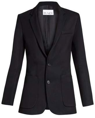 Raey Long Line Twill Blazer - Womens - Navy