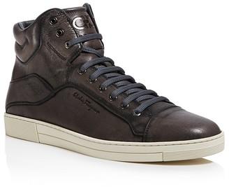 Salvatore Ferragamo Stephen 4 High Top Sneakers $595 thestylecure.com