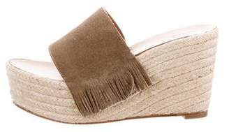 Chloé Fringe Wedge Sandals