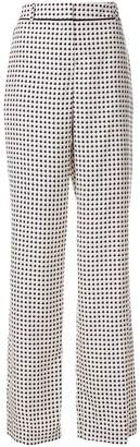 Bottega Veneta printed flared trousers