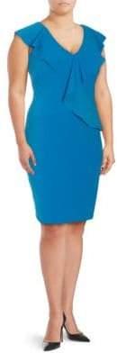 Alexia Admor Plus Ruffled Sheath Dress