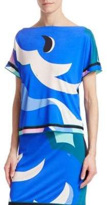 Emilio Pucci Boatneck Jersey Top