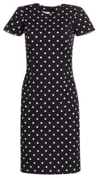 Carolina Herrera Polka Dot Sheath Dress