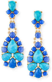 Sequin Turquoise & Agate Statement Earrings