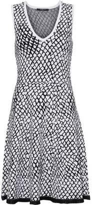 Derek Lam Fluted Intarsia-Knit Mini Dress