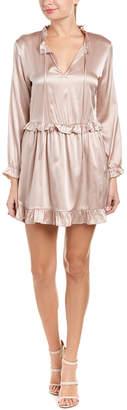 Anine Bing Frill Silk Mini Dress