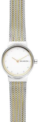Skagen Freja Gold-Tone Detail Watch, 26mm
