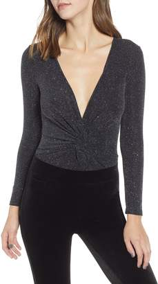 Leith Sparkle Twist Front Bodysuit