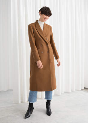 And other stories Structured Wool Blend Coat