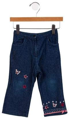 Lili Gaufrette Girls' Embroidered Low-Rise Jeans