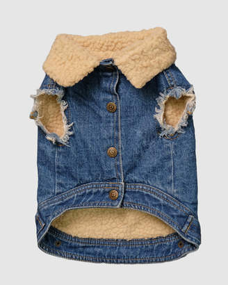 Sherpa Denim Vest - Medium