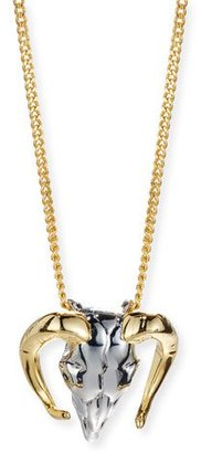 Alexis Bittar Two-Tone Horned Ram Pendant Necklace $115 thestylecure.com