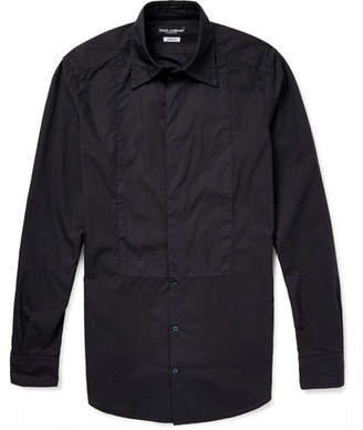 Dolce & Gabbana Slim-Fit Washed-Cotton Shirt - Men - Black