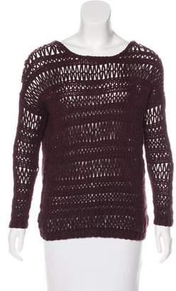 Vince Open Knit Long Sleeve Sweater
