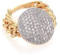 Phillips House Affair Diamond& 14K Yellow Gold Infinity Chain Link Ring
