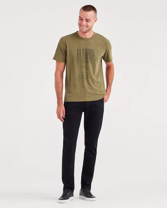 7 For All Mankind Luxe Sport Adrien Slim Tapered with Clean Pocket in Authentic Black