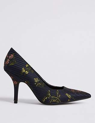 M&S Collection Stiletto Heels Floral Court Shoes