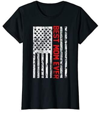 DAY Birger et Mikkelsen Womens Best Mom Ever American Flag USA T-Shirt Gift Mother