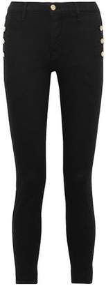 J Brand Zion Button-Detailed Mid-Rise Skinny Jeans