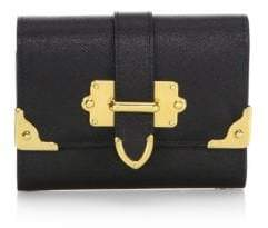 Prada Cahier Saffiano Leather Wallet