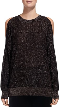 Whistles Sparkle Cold-Shoulder Sweater $270 thestylecure.com