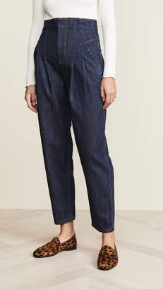 Rebecca Taylor Pleated High Waist Jeans