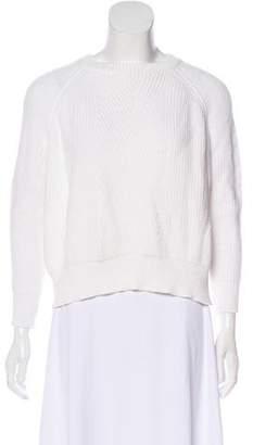Demy Lee Rib-Knit Trim Long Sleeve Sweater