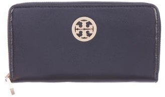 Tory Burch Tory Burch Logo-Accented Patent Leather Wallet