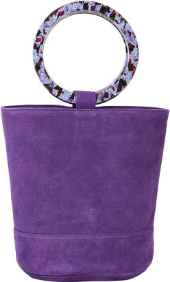Simon Miller Bonsai Purple Suede Bucket Bag