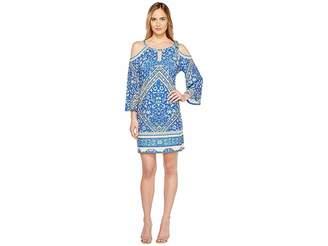 Hale Bob Sun Kissed Microfiber Jersey Cold Shoulder Dress Women's Dress