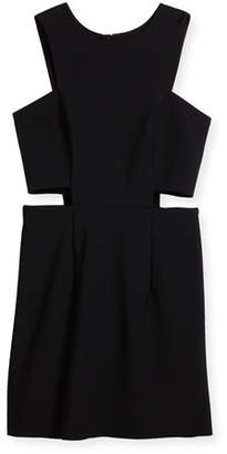 Milly Minis Tech Stretch Cutout Mini Dress, Size 8-16