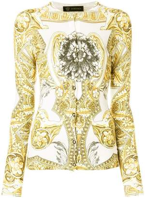 Versace signature print cardigan