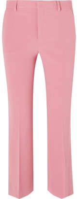 Miu Miu Cropped Cady Flared Pants - Pink