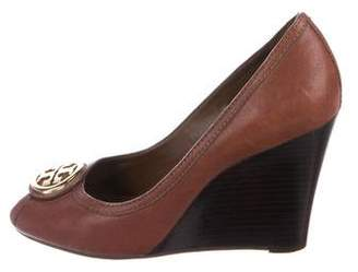Tory Burch Leather Wedge Pumps