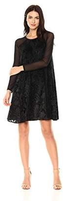 Rachel Roy Women's Burnout Velvet Swing Dress