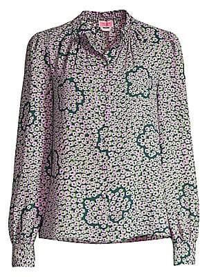 Kate Spade Women's Flair Flora Blouse