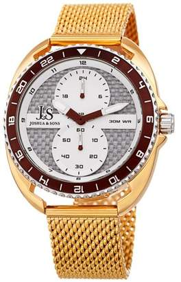 Joshua & Sons Orange Casual Quartz Watch With Stainless Steel Strap [JX136OR]