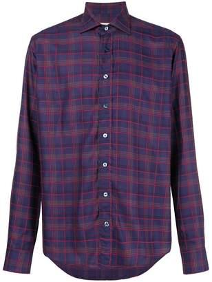 Etro check long-sleeve shirt