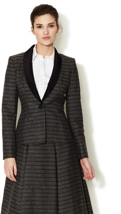 Carolina Herrera Tweed Sequin Jacket