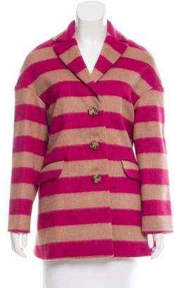 RED Valentino Striped Wool Coat w/ Tags
