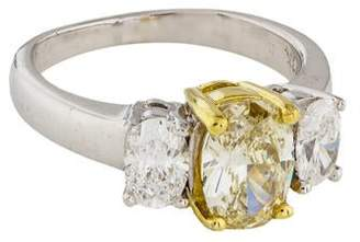 Fine Jewelry Ring 18K Oval Diamond Ring