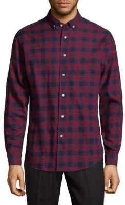 Slate & Stone Plaid Cotton Button-Down Shirt