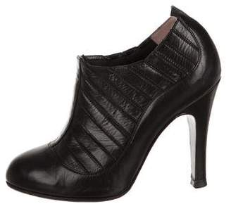 Chanel Pointed-Toe Leather Booties