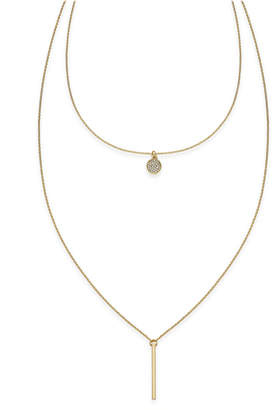 INC International Concepts I.N.C. High-Low Layered Pendant Necklace, Created for Macy's
